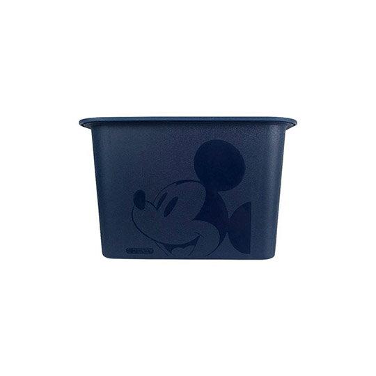 小禮堂 迪士尼 米奇 日製 方形塑膠拿蓋收納箱 玩具箱 衣物箱 4L (S 深藍 大臉)