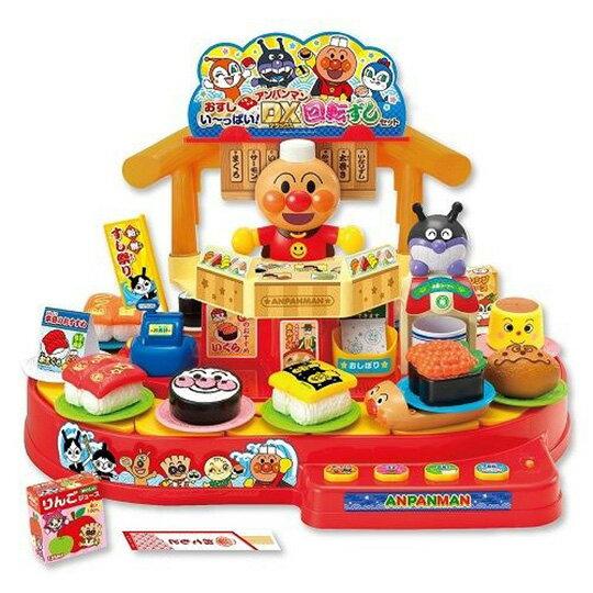小禮堂 麵包超人 迴轉壽司店玩具 音樂玩具 餐廳玩具 扮家家酒 (紅橘 廚師)