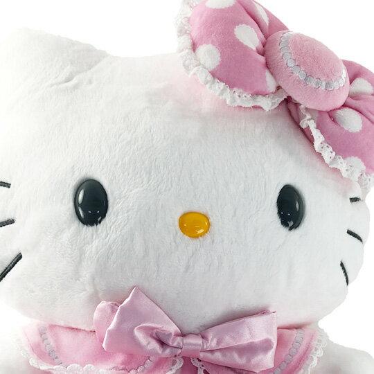 【領券折$30】小禮堂 Hello Kitty 12吋絨毛玩偶 絨毛娃娃 中型玩偶 布偶 (粉點點洋裝)