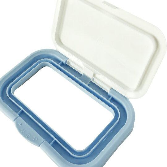 小禮堂 迪士尼 玩具總動員 日製 方形塑膠濕紙巾蓋 濕巾盒蓋 濕巾蓋 Bitatto (白 Q版)