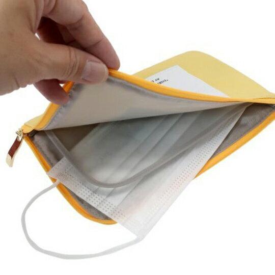【領券折$30】小禮堂 史努比 尼龍口罩包 面紙包 小物包 口罩夾 口罩套 口罩收納 (黃 側坐)