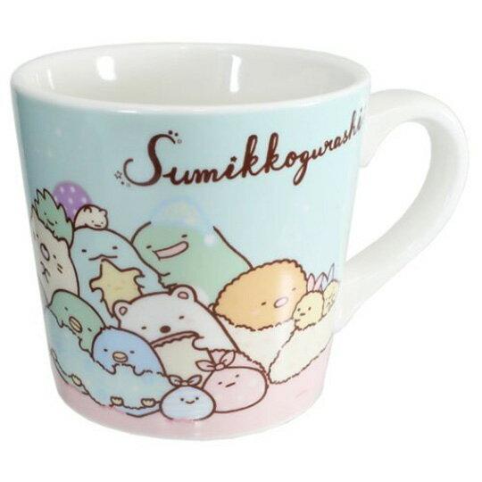 小禮堂 角落生物 陶瓷馬克杯 附方巾 咖啡杯 茶杯 手帕 (藍黃 窗戶)