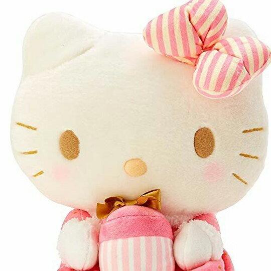 【領券折$30】小禮堂 Hello Kitty 絨毛玩偶 絨毛娃娃 中型玩偶 布偶 (M 粉聖誕洋裝)