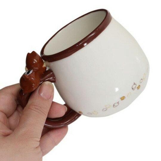 【領券折$30】小禮堂 迪士尼 奇奇蒂蒂 造型陶瓷馬克杯 咖啡杯 茶杯 陶瓷杯 340ml (棕白 杯邊玩偶)