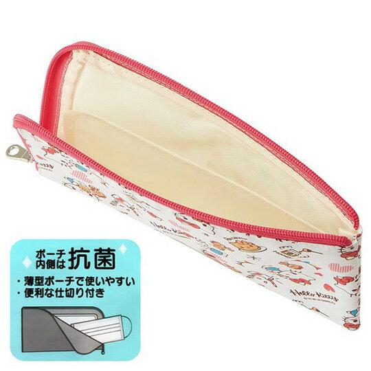 【領券折$30】小禮堂 Hello Kitty 尼龍口罩包 口罩夾 口罩套 小物包 口罩收納 (紅白 鬆餅)