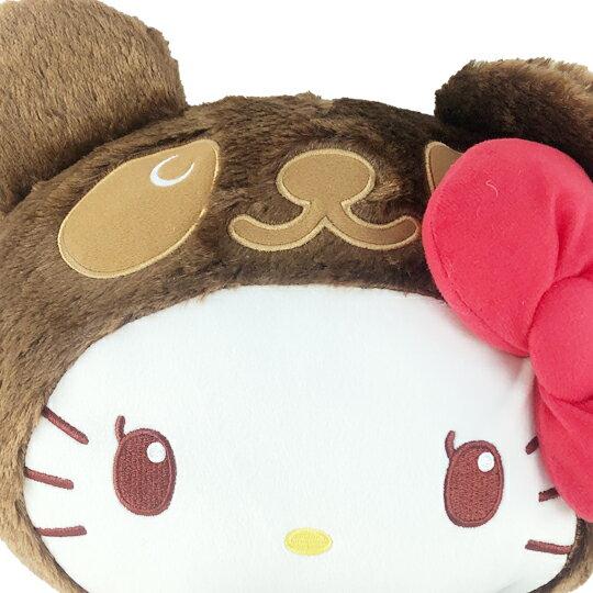 【領券折$30】小禮堂 Hello Kitty 絨毛玩偶 絨毛娃娃 中型玩偶 布偶 (M 深棕熊裝)