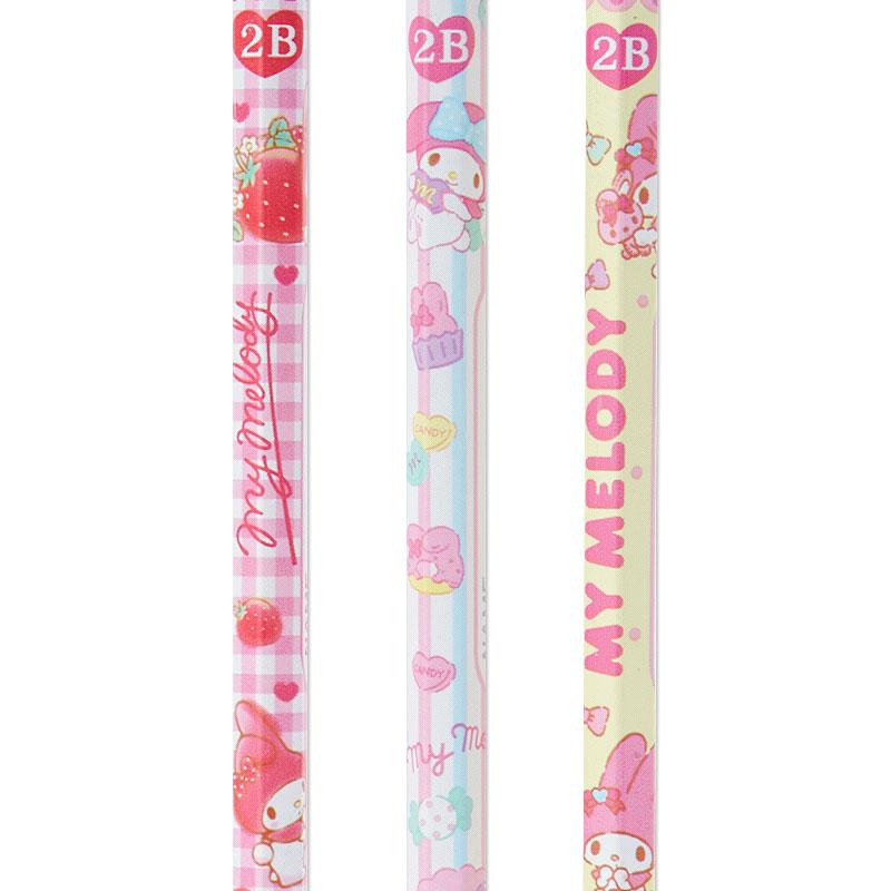 【領券折$30】小禮堂 美樂蒂 六角鉛筆組 2B鉛筆 木鉛筆 (3入 粉 滿版)