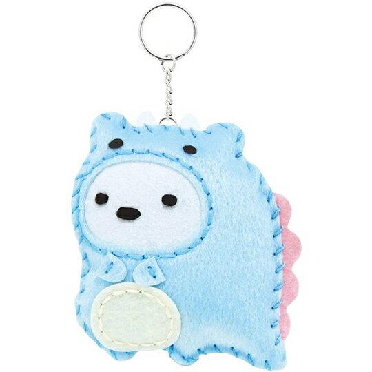 小禮堂 角落生物 北極熊 DIY不織布鑰匙圈 玩偶鑰匙圈 手作鑰匙圈 玩偶吊飾 (藍恐龍)
