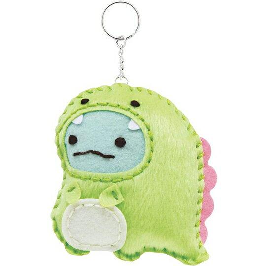 小禮堂 角落生物 恐龍 DIY不織布鑰匙圈 玩偶鑰匙圈 手作鑰匙圈 玩偶吊飾 (綠恐龍)