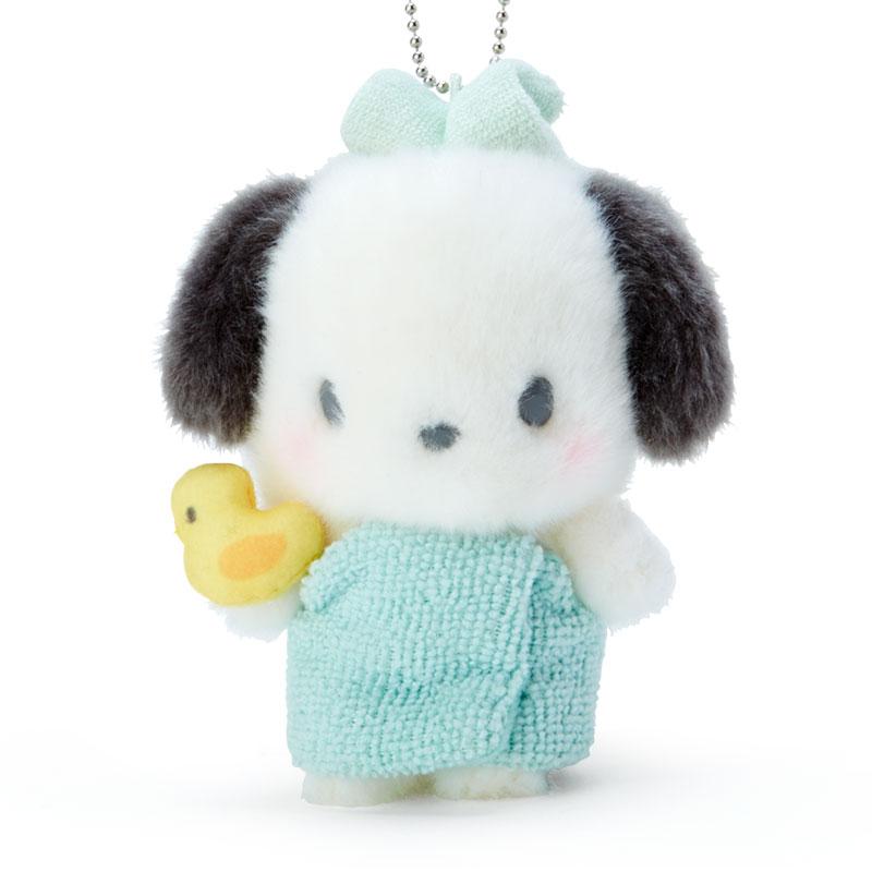 小禮堂 帕恰狗 絨毛吊飾 玩偶吊飾 玩偶鑰匙圈 包包吊飾 (綠 溫泉澡堂)