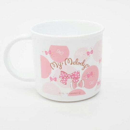 【領券折$30】小禮堂 美樂蒂 日製 單耳塑膠杯 兒童水杯 漱口杯 小水杯 200ml (粉白 點點)