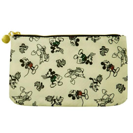 【領券折$30】小禮堂 迪士尼 尼龍口罩包 口罩夾 口罩套 化妝包 小物包 (黃 禮金袋)