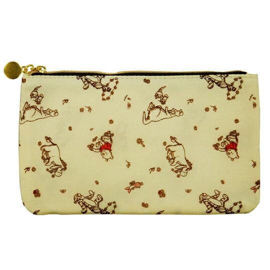 【領券折$30】小禮堂 迪士尼 小熊維尼 尼龍口罩包 口罩夾 口罩套 化妝包 小物包 (黃 禮金袋)