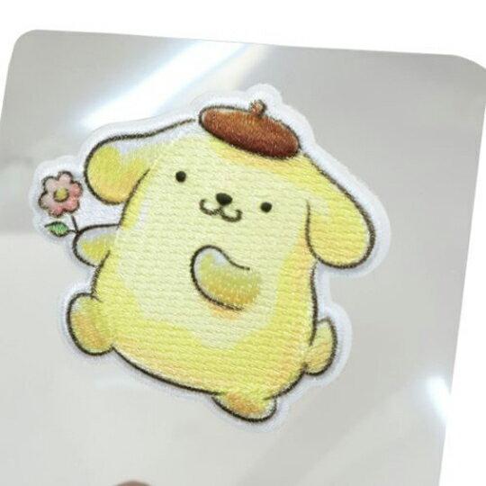 小禮堂 布丁狗 造型燙布貼 刺繡布貼 衣服燙貼 布飾 (黃 拿花)