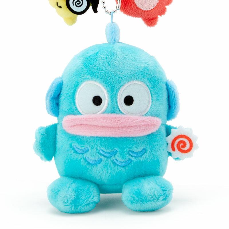 小禮堂 人魚漢頓 絨毛吊飾 玩偶吊飾 玩偶鑰匙圈 包包吊飾 (藍 生日漫畫)