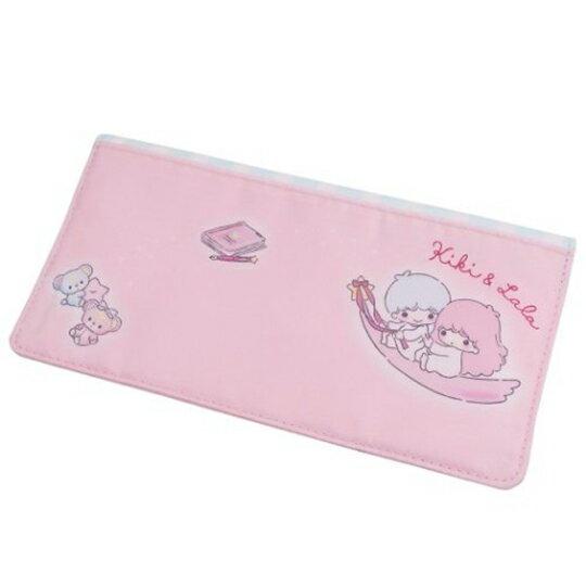 【領券折$30】小禮堂 雙子星 尼龍扣式口罩包 抗菌口罩夾 口罩套 小物包 (粉藍 星星)