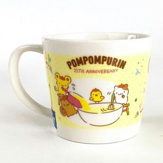 小禮堂 布丁狗 日製 陶瓷馬克杯 咖啡杯 茶杯 陶瓷杯 金正陶器 (黃 25週年)