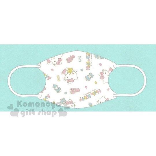 【領券折$30】小禮堂 Hello Kitty 兒童不織布口罩組 立體口罩 拋棄式口罩 兒童口罩 (5入 粉 滿版)