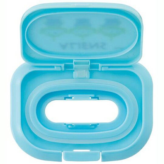 【領券折$30】小禮堂 迪士尼 三眼怪 方形塑膠濕紙巾蓋 濕巾盒蓋 濕巾蓋 抗菌Ag+ (藍 三隻)