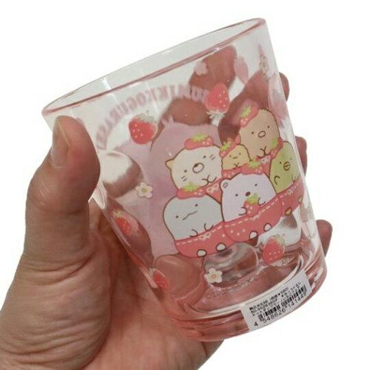 【領券折$30】小禮堂 角落生物 無把塑膠杯 透明杯 壓克力杯 兒童水杯 300ml (粉 草莓)