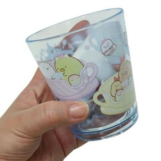 【領券折$30】小禮堂 角落生物 無把塑膠杯 透明杯 壓克力杯 兒童水杯 300ml (藍 遊樂園)