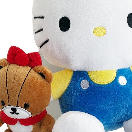 【領券折$30】小禮堂 Hello Kitty 絨毛玩偶 絨毛娃娃 小玩偶 布偶 (S 藍 抱小熊)
