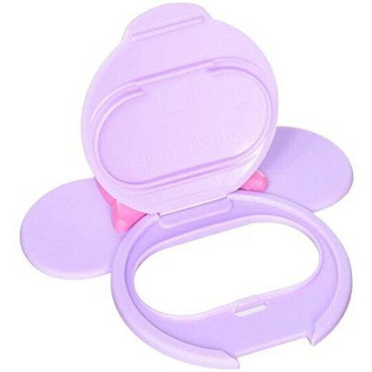 【領券折$30】小禮堂 迪士尼 米妮 日製 造型塑膠濕紙巾蓋 濕巾盒蓋 濕巾蓋 (紫 大臉)