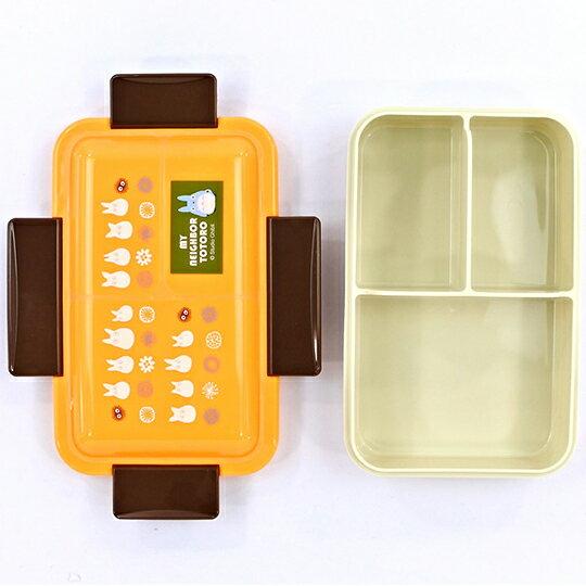 小禮堂 龍貓 日製 方形微波便當盒 抗菌便當盒 四扣便當盒 保鮮盒 550ml Ag+ (橘 藍龍貓)