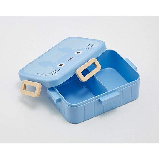 小禮堂 龍貓 日製 方形微波便當盒 抗菌便當盒 塑膠便當盒 650ml Ag+ (藍 大臉)