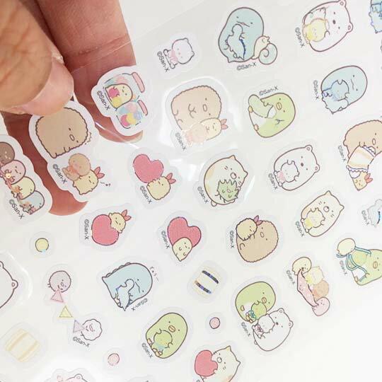 小禮堂 角落生物 造型鐳射貼紙 卡片貼紙 手帳貼紙 貼紙組 (粉 玩偶)