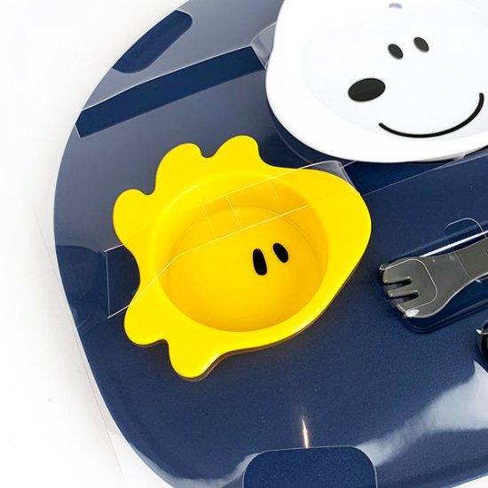 小禮堂 史努比 日製 六件式兒童餐具組 塑膠餐具組 環保餐具 餐具禮盒 (藍 大臉)