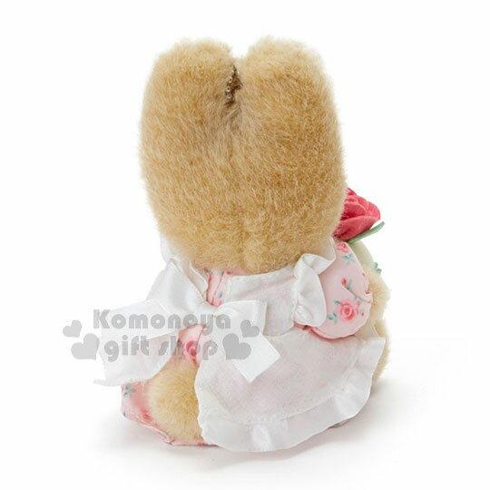 〔小禮堂〕兔媽媽 絨毛玩偶吊飾《粉.側坐》掛飾.擺飾.杯子蛋糕系列 2