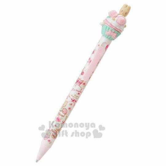 〔小禮堂〕兔媽媽 造型原子筆《白.滿版.側坐》黑筆.杯子蛋糕系列 0