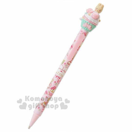 〔小禮堂〕兔媽媽 造型自動鉛筆《粉.滿版.側坐》0.5mm筆芯.杯子蛋糕系列 0