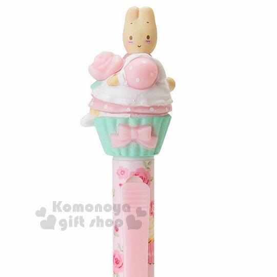 〔小禮堂〕兔媽媽 造型自動鉛筆《粉.滿版.側坐》0.5mm筆芯.杯子蛋糕系列 1