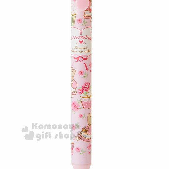〔小禮堂〕兔媽媽 造型自動鉛筆《粉.滿版.側坐》0.5mm筆芯.杯子蛋糕系列 2