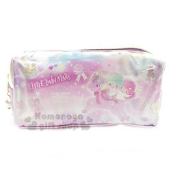 〔小禮堂﹞雙子星 尼龍拉鍊筆袋《粉紫.騎馬.雲朵》化妝包.收納包