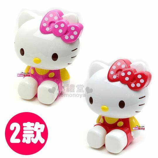 〔小禮堂〕Hello Kitty 造型削鉛筆機《2款選1.點點蝴蝶結.坐姿》可愛造型文具用品