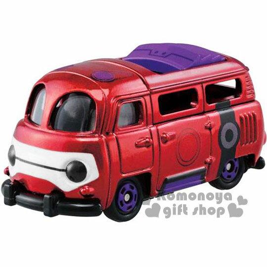 〔小禮堂〕大英雄天團 杯麵 BAYMA TOMICA小汽車《酒紅.造型麵包車》經典造型值得收藏
