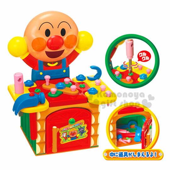 〔小禮堂嬰幼館〕麵包超人 工具箱玩具組《橘盒裝.舉雙手》適合3歲以上兒童