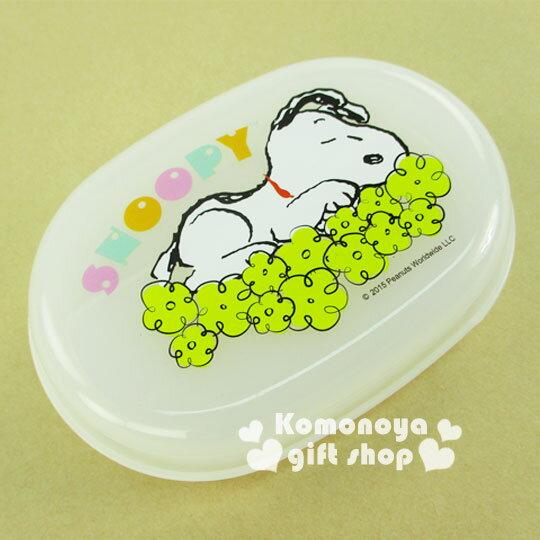 〔小禮堂〕Snoopy史努比香皂盒《白.浮雲》輕鬆美化空間
