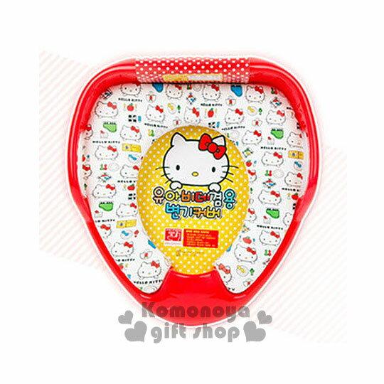 〔小禮堂韓國館〕Hello Kitty 輔助馬桶座《紅白.餐具.鋼琴.大臉滿版》限15kg以下幼兒用