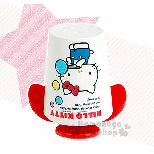 〔小禮堂韓國館〕Hello Kitty 牙刷杯架《白.紅底.吹泡泡》可掛2支牙刷