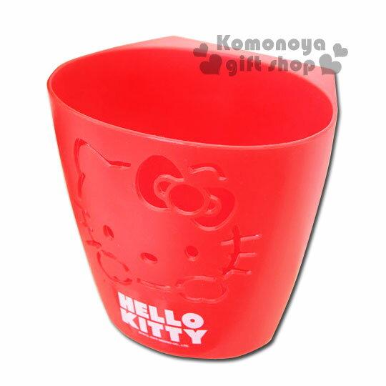 〔小禮堂韓國館〕Hello Kitty 浴室收納盒《紅.簍空.大臉》掛勾設計