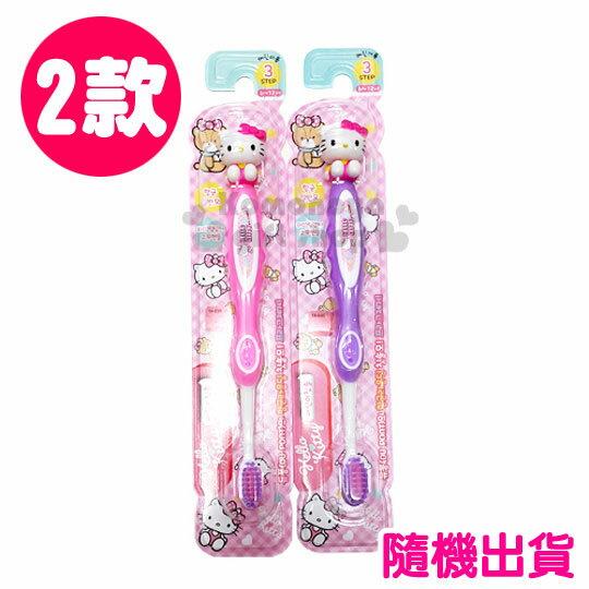 〔小禮堂韓國館〕Hello Kitty 柄頭牙刷~2色. 出貨.坐姿~ 6^~12孩童