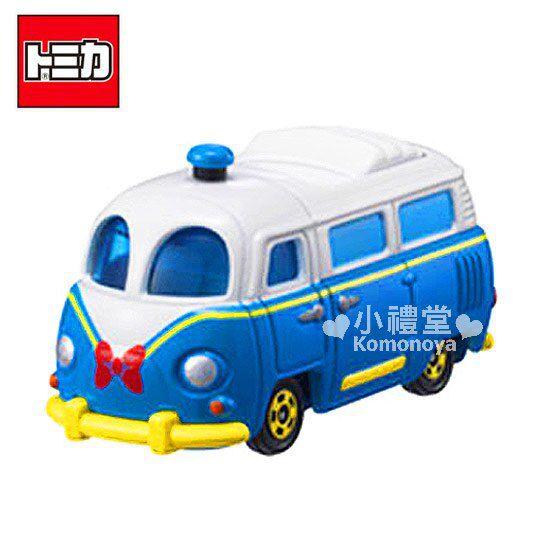 〔小禮堂〕迪士尼 唐老鴨 TOMICA小汽車《藍.造型麵包車》DM-08經典造型值得收藏 0