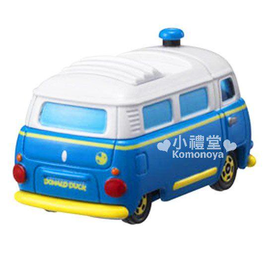 〔小禮堂〕迪士尼 唐老鴨 TOMICA小汽車《藍.造型麵包車》DM-08經典造型值得收藏 1