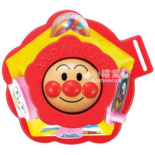 〔小禮堂嬰幼館〕麵包超人 嬰兒車用玩具《紅黃.大臉》增添親子間的親密度 1