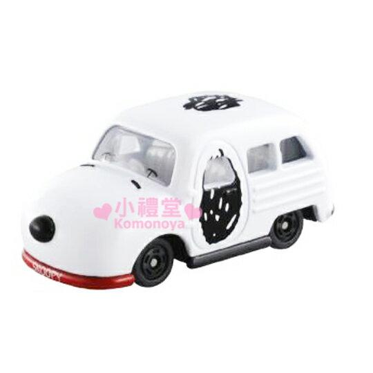 〔小禮堂〕史努比 TOMICA小汽車《白.車頂》經典造型值得收藏