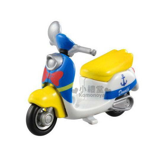 〔小禮堂〕迪士尼 唐老鴨 造型摩托車《藍.偉士牌》DM-19經典造型值得收藏